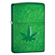 Candy Green Leaf Zippo Lighter